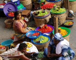 Makola Market in Accra, Ghana.