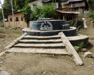 The most well known well in Puná. But it is surrounded by poorly constructed septic tanks and animal pens.  Testing has showed high levels of bacterial contamination.